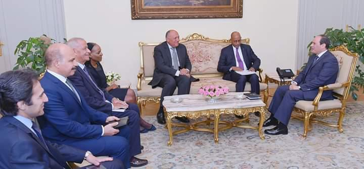 Dr Mayaki meets with President Abdel Fattah el-Sisi of Egypt, current Chairperson of the AU