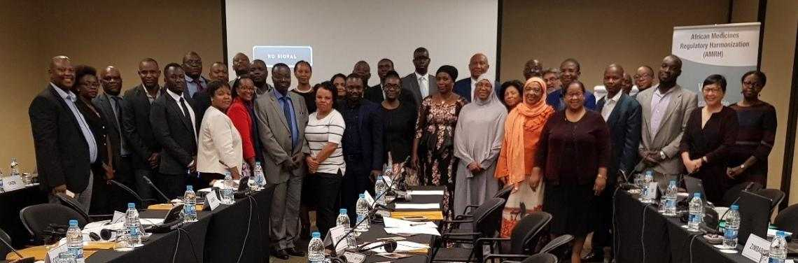Participants at the AU Model Law capacity building session in Johannesburg
