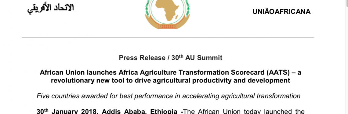 African Union Launches Africa Agriculture Transformation
