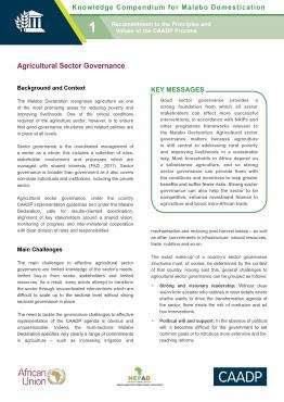 Agriculture Sector Governance
