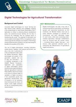 Digital Technologies for Agricultural Transformation