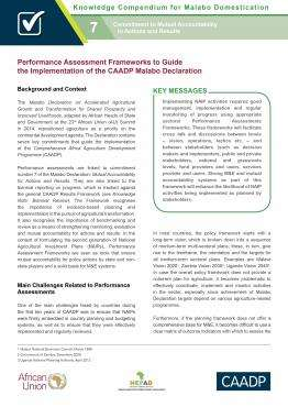 Performance Assessment Frameworks to Guide the Implementation of the CAADP Malabo Declaration