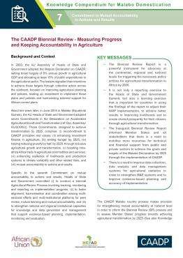 The CAADP Biennial Review - Measuring Progress and Keeping Accountability in Agriculture