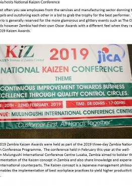 Zambia hosts National Kaizen Conference | AUDA-NEPAD