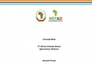 Concept Note: 3rd Africa Climate Smart Agriculture Alliance