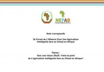 Concept Note: 3rd Africa Climate Smart Agriculture Alliance_french version