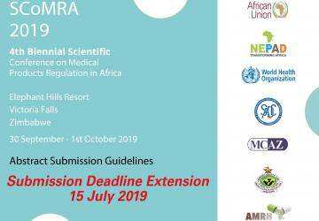 SCoMRA 2019: Abstract Submission Deadline Extension: 15 July 2019