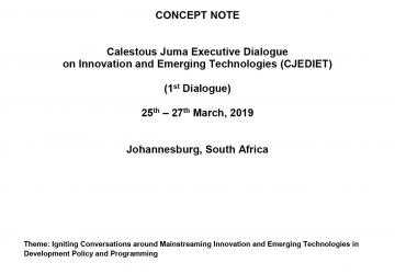 Calestous Juma Executive Dialogue on Innovation and Emerging Technologies