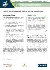 Regional Trade and Market Access for Agricultural Transformation
