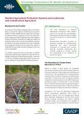 Resilient Agricultural Production Systems and Livelihoods with Climate-Smart Agriculture