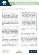 Agriculture and Food Insecurity Risk Management